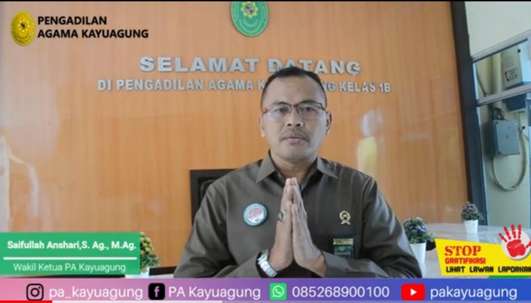 Pernyataan Dukungan Anti Gratifikasi Wakil Ketua PA Kayuagung